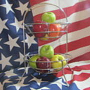 Patriotic Apples Art Print