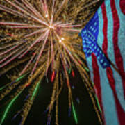 Patriotic Fireworks Art Print