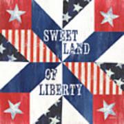 Patriotic Quilt 3 Art Print