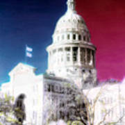 Patriotic Texas Capitol Art Print