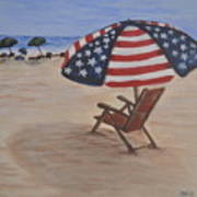 Patriotic Umbrella Art Print