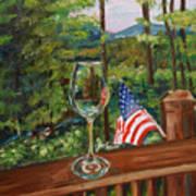Star Spangled Wine - Fourth Of July - Blue Ridge Mountains Art Print