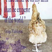 Patriotic Hen Art Print