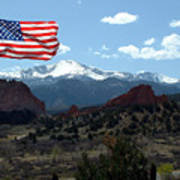 Patriotism At Pikes Peak Art Print