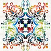 Pattern Art - Color Fusion Design 7 By Sharon Cummings Art Print