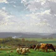 Paturage En Auvergne Art Print