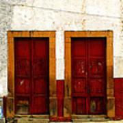 Patzcuaro Doors Art Print