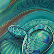 Paua Seabed By Reina Cottier Art Print