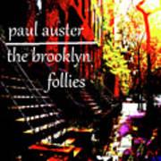 Paul Auster Poster Brooklyn  Art Print