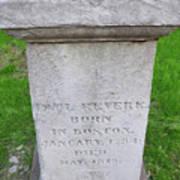 Paul Revere Grave  Art Print