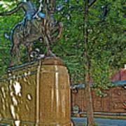 Paul Revere Rides In Boston-massachusetts  Art Print