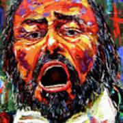 Pavarotti Art Print