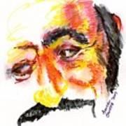 Pavarotti Sketch No. 1 Art Print