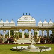 Pavilion And Fountain, Udaipur, India Art Print