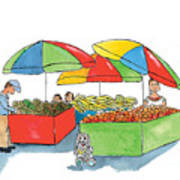 Paw Paw At The Market Art Print
