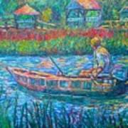 Pawleys Island Fisherman Art Print