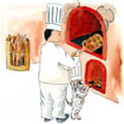 Pawpaw Bakes Bread Art Print
