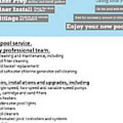 Payan Pool Service Infographics Art Print