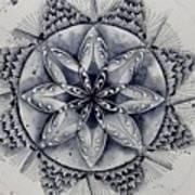 Paynes Gray Mandala2 Art Print