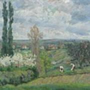 Paysage D'ile De France By Armand Guillaumin Art Print