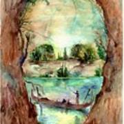 Paysage With A Boat Art Print