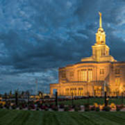 Payson Temple Panorama Art Print