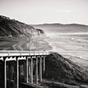 Pch Scenic In Black And White Art Print
