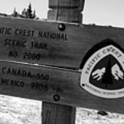 Pct Scenic Trail Art Print