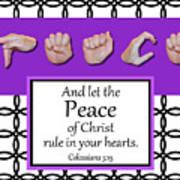 Peace - Bw Graphic Art Print