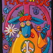 Peace Dog Art Print