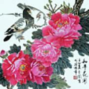 Peace Flowers Art Print