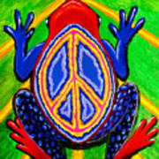 Peace Frog Too Art Print
