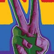 Peace Hand Art Print