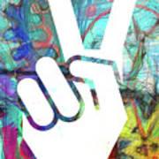 Peace Hand Sign 1  Art Print