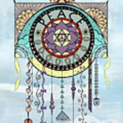 Peace Kite Dangle Illustration Art Art Print