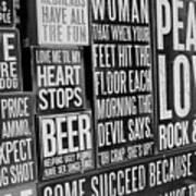 Peace, Love And Rock N Roll Art Print