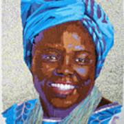Peace Portrait Three Wangari Maathai Art Print