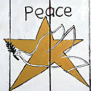Peace Star Art Print