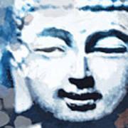 Peaceful Buddha 2- Art By Linda Woods Art Print
