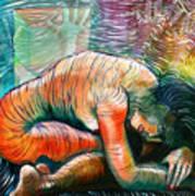 Peaceful Flow - Reclining Nude Art Print