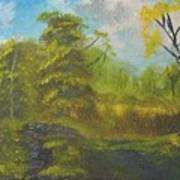 Peaceful Land 12x24 By Artist Bryan Perry Print by Bryan Perry