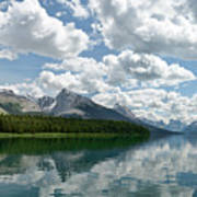 Peaceful Maligne Lake Art Print