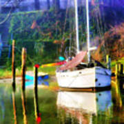 Peaceful Morning In The Cove Art Print