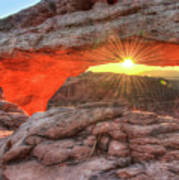 Peaceful Morning - Sunrise At Mesa Arch - Moab Utah Art Print