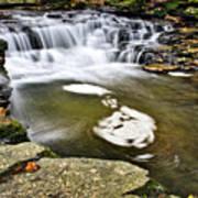 Peaceful Pool Waterfall Art Print