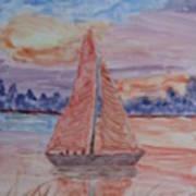 Peaceful Sailing Art Print