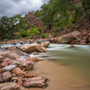 Peaceful Waters Of Zion Art Print