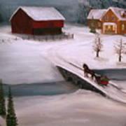 Peaceful Winter Evening Art Print