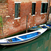 Peacefull Canal Parking Art Print