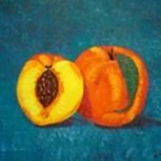 Peach And A Half Art Print